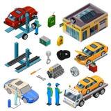 Car Service Isometric Decorative Icons Stock Photo