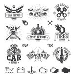 Car service Labels, Emblems and Logos Stock Photo