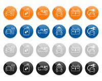 Car service line vector icons set Stock Images