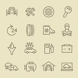 Car service linear icon set Stock Photography