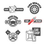 Car service logo for business. Car service logo set. Auto repair  icon for business Royalty Free Stock Images
