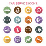 Car service long shadow icons Stock Photo