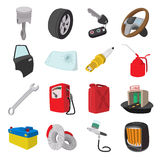 Car service maintenance cartoon icons Stock Image