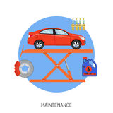 Car Service and Maintenance Concept Stock Images