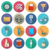 Car service maintenance flat icon set Stock Images