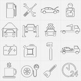 Car service maintenance icon set. Vector illustration. Royalty Free Stock Photos
