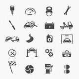 Car service maintenance icons Stock Image