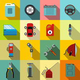 Car service maintenance icons set Royalty Free Stock Photography