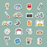Car service maintenance icons set Royalty Free Stock Photos