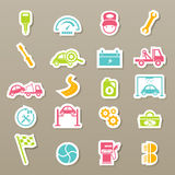 Car service maintenance icons set Stock Photo