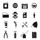 Car service maintenance icons set Royalty Free Stock Photos