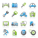 Car service maintenance icons. Vector icon set Royalty Free Stock Photography