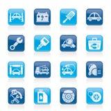 Car service maintenance icons. Vector icon set Royalty Free Stock Photos