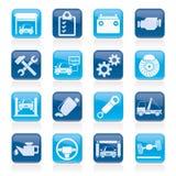 Car service maintenance icons Stock Photo