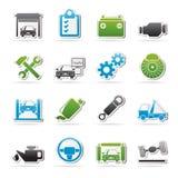 Car service maintenance icons Stock Photography