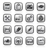 Car service maintenance icons Royalty Free Stock Images
