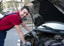 Car service mechanic Royalty Free Stock Images