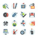 Car service repair parts vector icons vehicle and automobile equipment Royalty Free Stock Image
