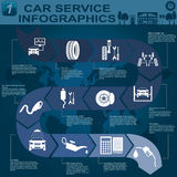 Car service, repair Infographics Stock Photo
