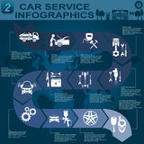 Car service, repair Infographics Stock Images