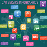 Car service, repair Infographics Royalty Free Stock Photos