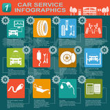 Car service, repair Infographics Stock Photos