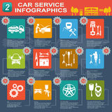 Car service, repair Infographics Stock Photos
