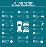 Car service, repair Infographics vector illustration