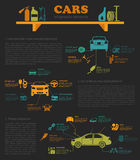 Car service, repair Infographics Royalty Free Stock Images