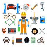 Car service repair vector icons set Stock Photography