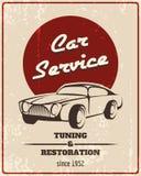 Car service retro poster Royalty Free Stock Photos