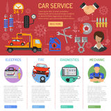 Car Service and Roadside Assistance Infographics Royalty Free Stock Photos