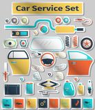 Car service set Royalty Free Stock Photography