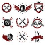Car service set. Vector. Classic, grunge, sport vector illustration
