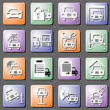 Car service set vector icons Stock Image