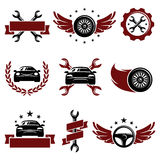 Car service set. Vector. Illustration  classic, grunge, sport Royalty Free Stock Photography