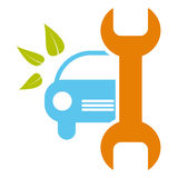Car service sign - healthy environment, bio concep. Car service sign / icon - bio concept Royalty Free Stock Images