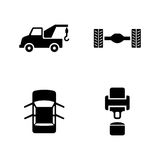 Car service. Simple Related Vector Icons vector illustration