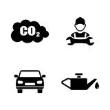 Car service. Simple Related Vector Icons. Set for Video, Mobile Apps, Web Sites, Print Projects and Your Design. Black Flat Illustration on White Background Royalty Free Stock Photography