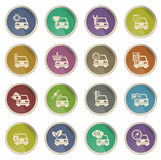 Car service simply icons. Label icons for web sites and user interfase Stock Image