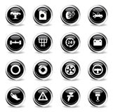 Car service simply icons. Car service icons set for web sites and user interface Stock Images