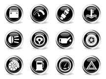 Car service simply icons Stock Photo