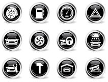 Car service simply icons. Car service icons set for web sites and user interface Stock Photos