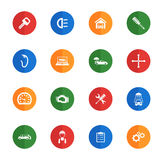 Car service simply icons. Car service icons set for web sites and user interface Stock Image