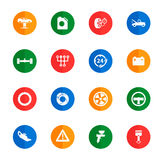Car service simply icons. Car service icons set for web sites and user interface Stock Photo