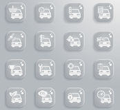 Car service simply icons. Car service simply symbol for web icons Royalty Free Stock Photos