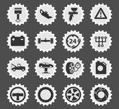 Car service simply icons. Car service simply symbol for web icons Stock Photography