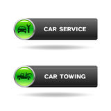 Car service and towing buttons Stock Images