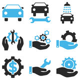 Car Service Vector Icon Set Stock Photography