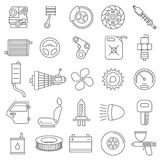 Car service vector icons Royalty Free Stock Images